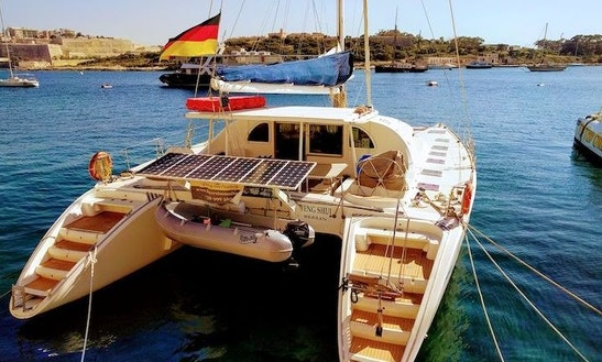 57ft Lagoon Cruising Catamaran Charter In Maltese Islands, Malta