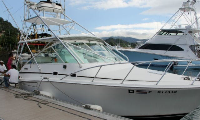 35' Cabo Express Fishing Yacht with Fighting Chair in Costa Rica