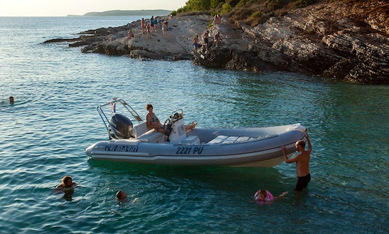 Trimarin Inflatable Boat Ready To Explore Rovinj, Rabac, Poreč And Umag