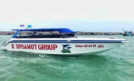 Step Aboard And Explore 5 Islands In Rayong, Thailand With Family And Friends Aboard This Speedboat