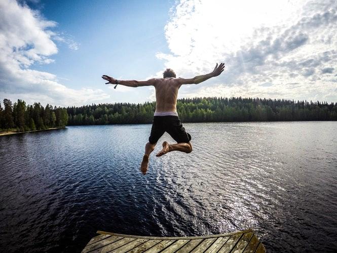 Jump in Canyon Lake