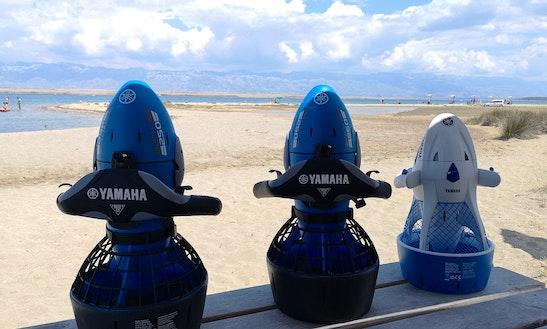 Enjoy The Underwater Sea Scooter In Privlaka, Croatia