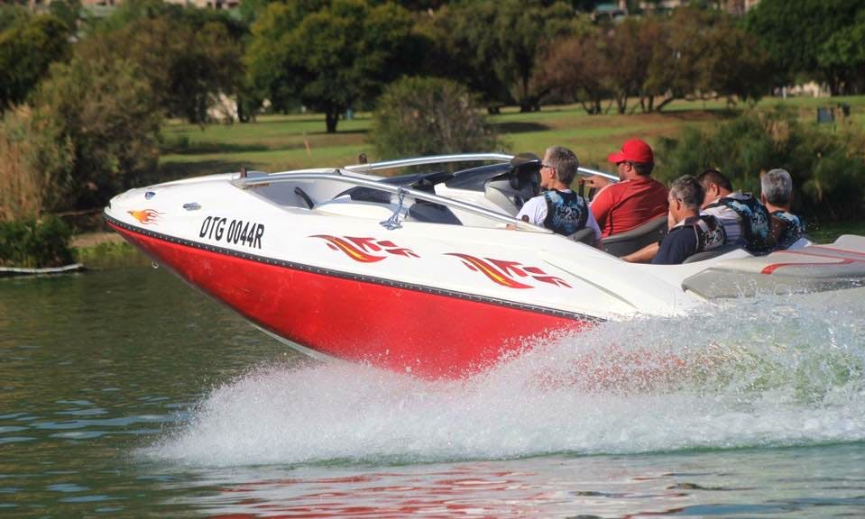 Hit the water of Hartbeespoort, South Africa with a jet boat