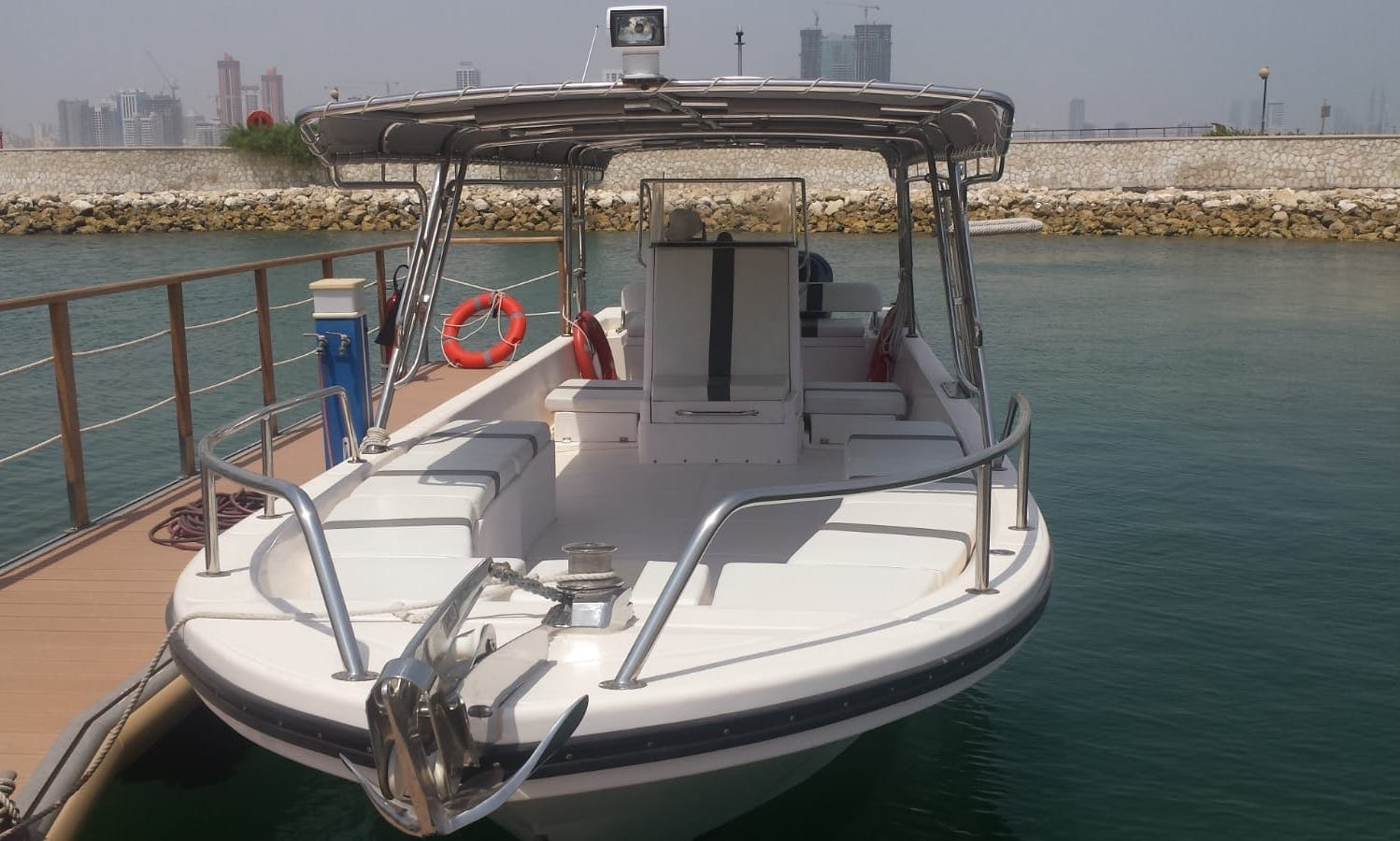 Explore Manama, Bahrain with family and friends aboard this center console