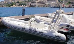 RIB boat rental in Limassol with captain