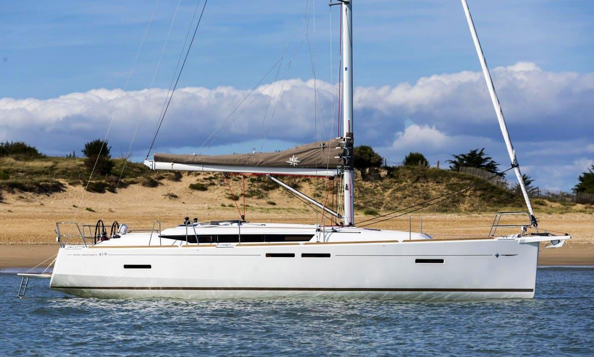 Charter an 8 person Jeanneau Sun Odyssey Cruising Monohull in Volos, Greece