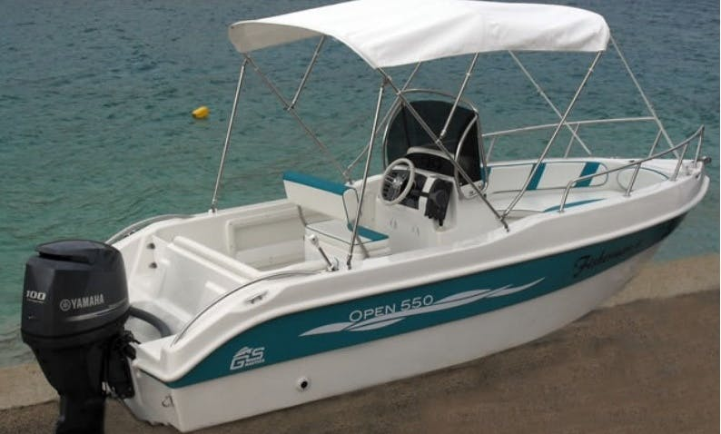 Rent Open 550 Center Console for 6 People in Rab, Croatia