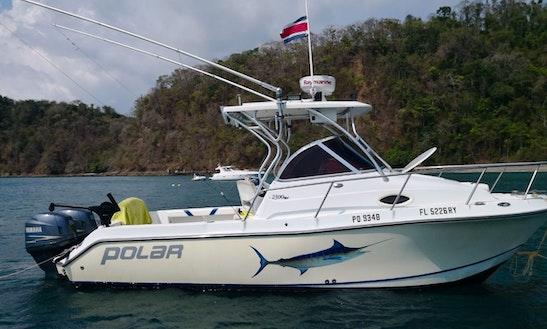 Enjoy Fishing In Herradura, Costa Rica On 24ft Polar Cuddy Cabin Boat