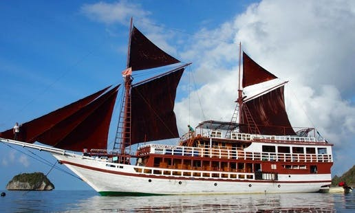 Experience an unforgettable cruising in aboard 105' Sailing Phinisi in Denpasar, Bali