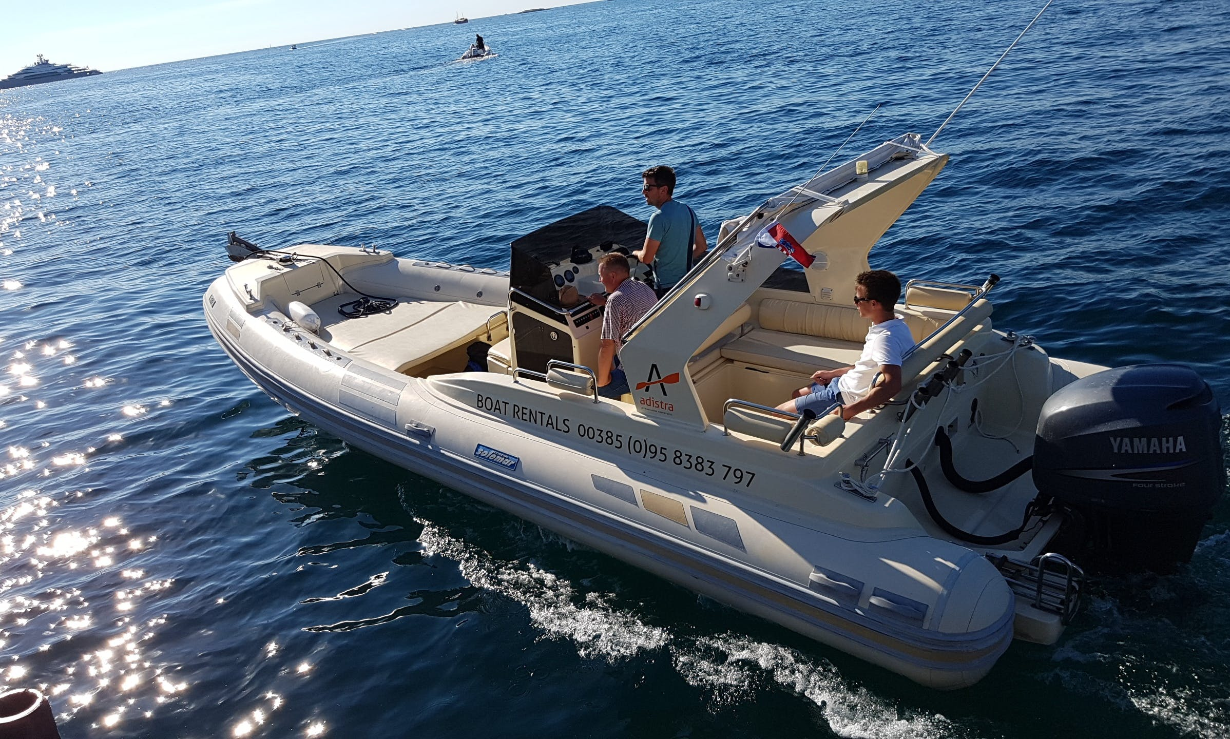 Rent this 2010 Solemar RIB rental in Rovinj for 12 people