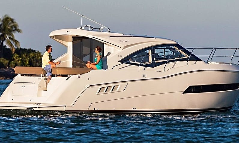Charter the Carver C37 Coupe for 12 Person with Captain in Sag Harbor, New York