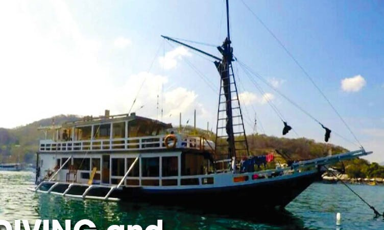 "Enjoy the experience of cruising on ""Seamore II"" traditional junk in Denpasar, Bali"