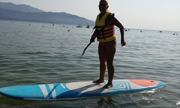 Experience the fun stand up paddling in Keramoti, Greece