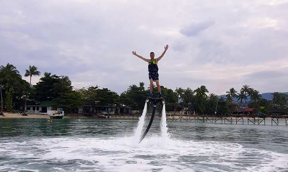 Enjoy thrilling experience of flyboarding in Ko Samui, Thailand
