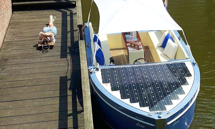 Private City Tours incl. local captains on Supiore Uno Electric Boat In Amsterdam, Netherlands