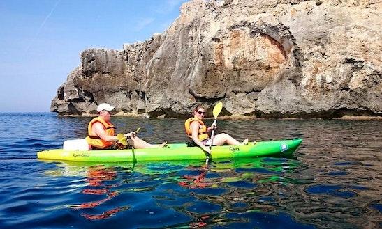Kayak Excursion And Double Kayak Rental In Playa Sant Tomas, Spain
