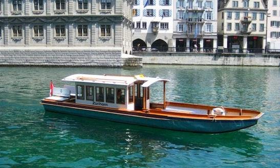 Ms Zurihorn Trawler Boat Rental In Zürich, Switzerland For 12 Person!