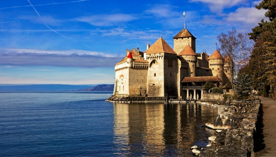 Chillon Castle on Lake Geneva
