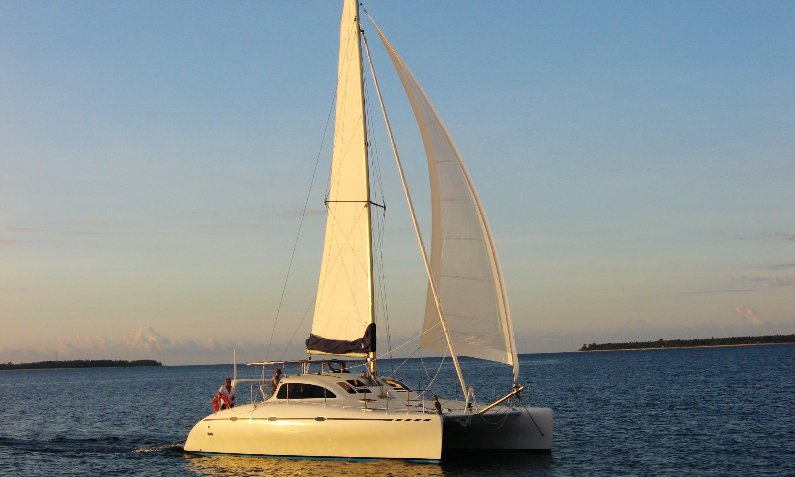 "Captained Charter on 38ft ""Lombok Explorer Sailing Catamaran in Bali, Indonesia"