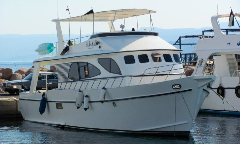 Full day diving trip aboard Barakah Motor Yacht in Aqaba, Jordan
