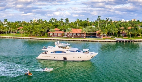 Yacht Charters Miami - 88' Ferretti - Miami, Florida Keys, The Bahamas!
