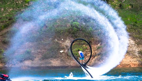 Amazing  Flyboarding In Guatape, Colombia