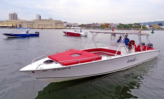 38ft Arrecife Exclusive Private Boat In Cartagena, Colombia