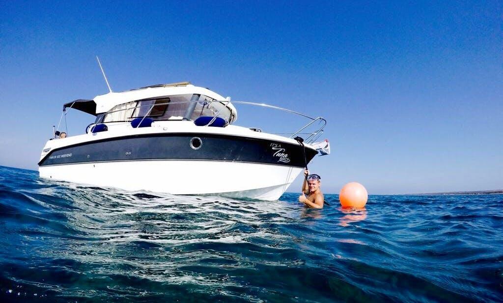Motor boat cruising in Limassol, Cyprus