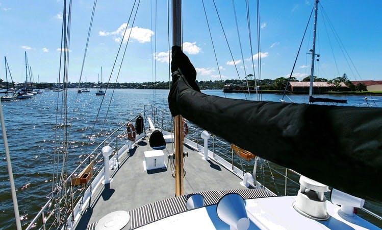 Fun and luxury cruising Sydney Harbour aboard Sydneysider Motor Yacht, New South Wales