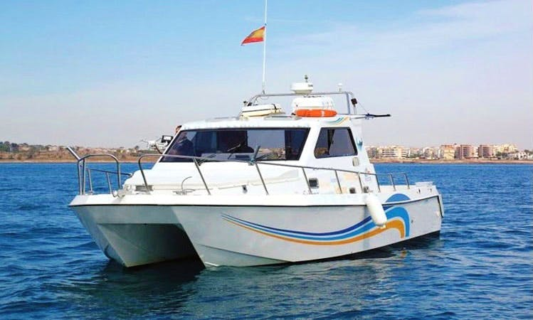 "Charter this 36' ""Luna De Gadel"" Power Catamaran at Marina Salinas Torrevieja"