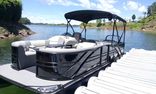 Black Pontoon Rental In Guatape, Colombia For 12 Friends!