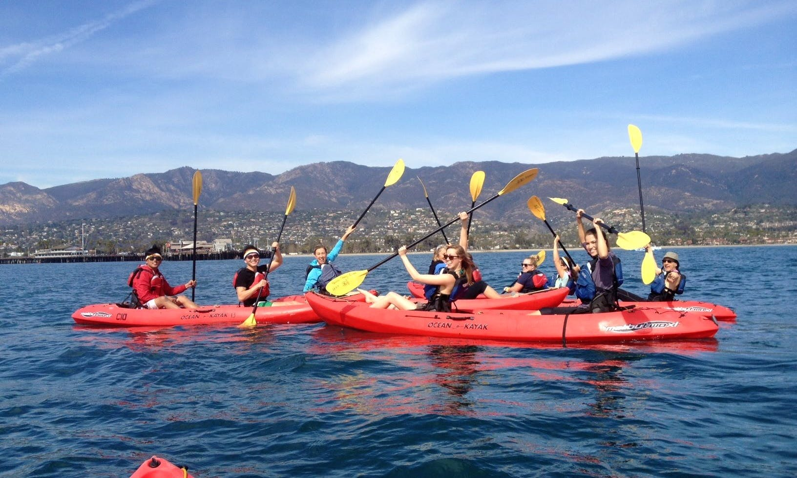 Hourly Kayak Rental on Santa Barbara Harbor, California
