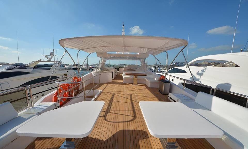 50 Person Majestic Motor Yacht Charter in Dubai