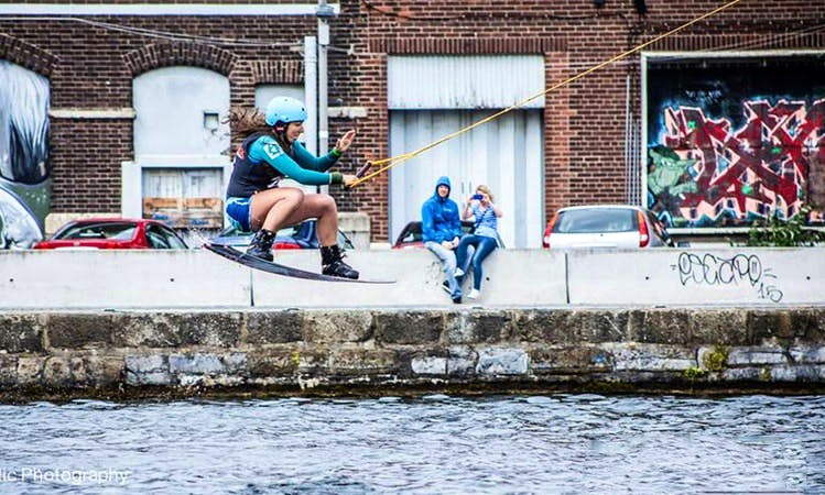 Wakeboarding in Ringsend, Ireland