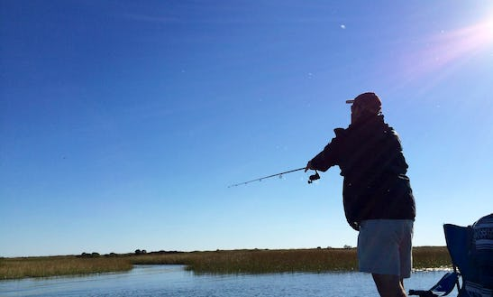 Guided Fishing Trips On 16′ Lowe Jon Boat For 2 People In Cape Charles, Virginia