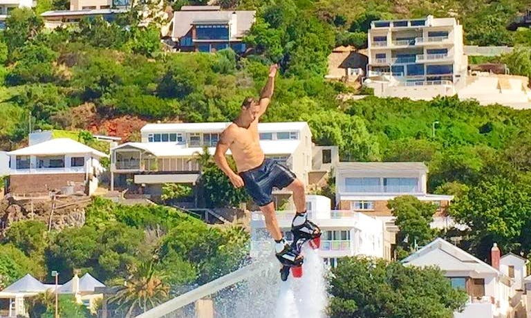 Hair Raising Flyboarding Ride on Cape Town Beach, Western Cape, South Africa