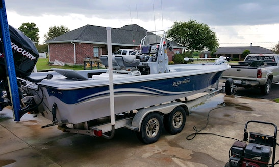 Blue Wave Center Console Fishing Charter For 4 People In Grand Isle, Louisiana With Capt. Mike