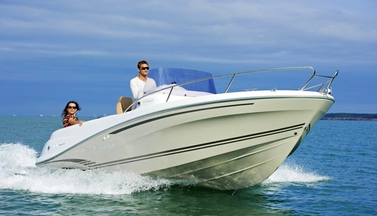 Rent A 21' Cap Camarat 6.5 Cc Power Boat In La Rochelle, France (license Required)