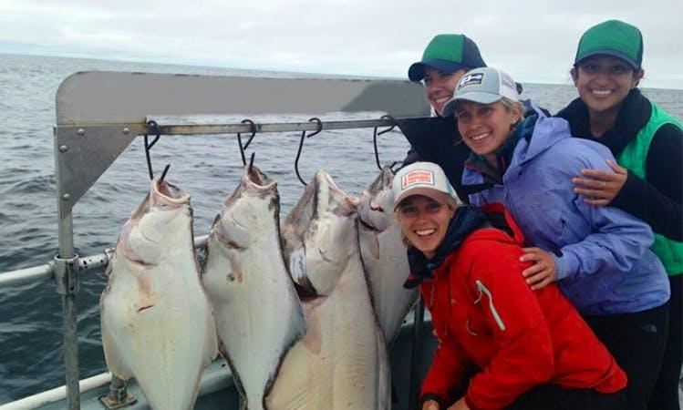 """50ft """"Whistler"""" Sportfisherman Boat Charter in Homer, Alaska"""