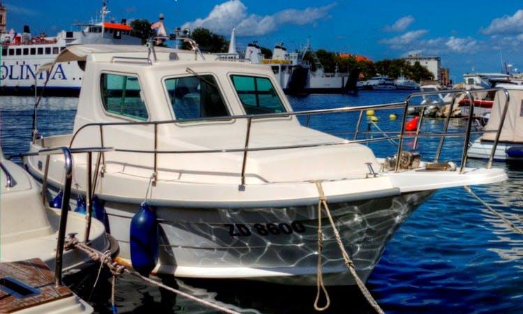 Fishing Charter in Zadar Channel on Araussa 740 Motor Yacht
