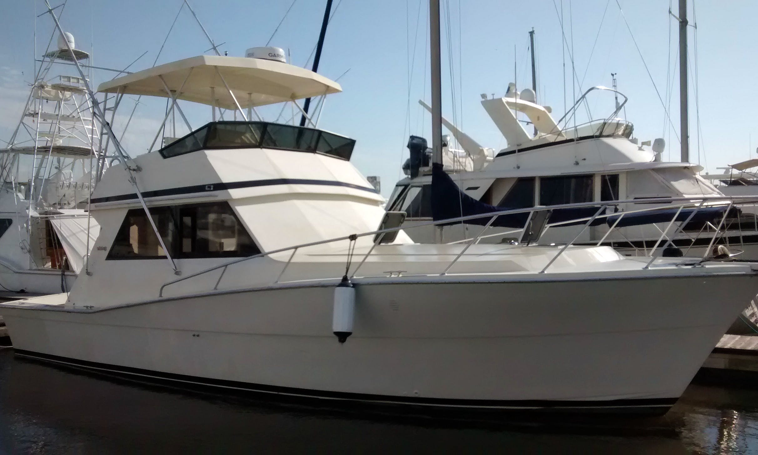 41' Viking for harbor cruise in Charleston