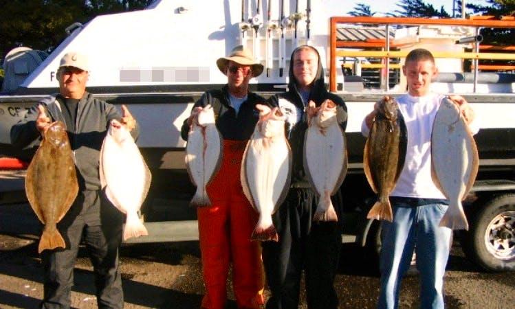"Rancho Cordova Fishing Charter on 24ft ""Jilly Sea"" Pilot House Boat"