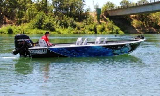 Guided Fishing On 23' Rougue Jet Chinook Boat, Sacramento River