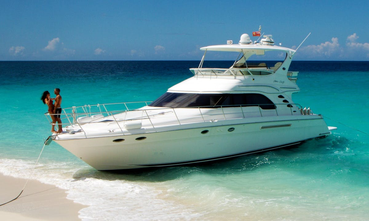 Turks and Caicos Island Getaway aboard 60' Sea Ray Motor Yacht with Captain Robo