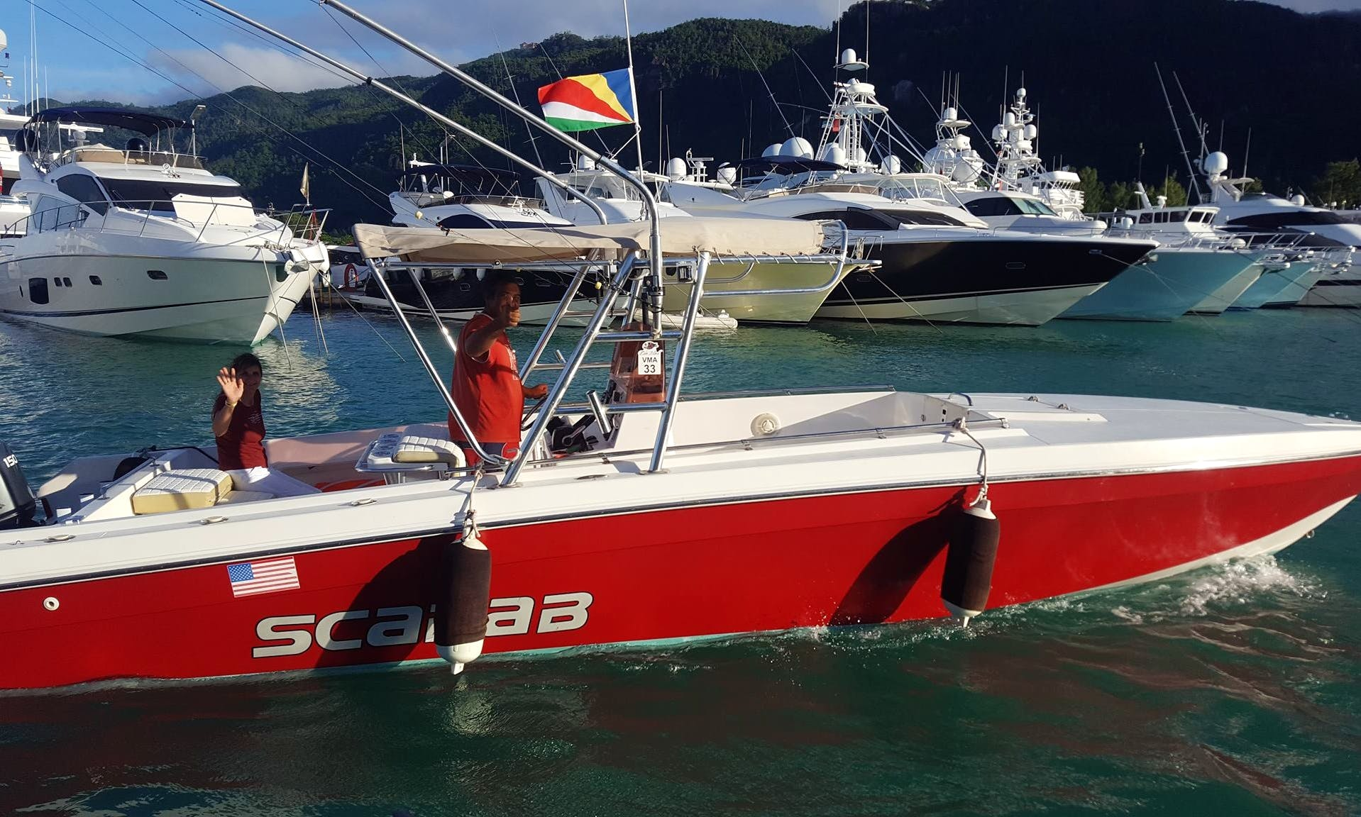 Another Level of Fishing Trip on a Scarab Speed Boat in Mahé, Seychelles