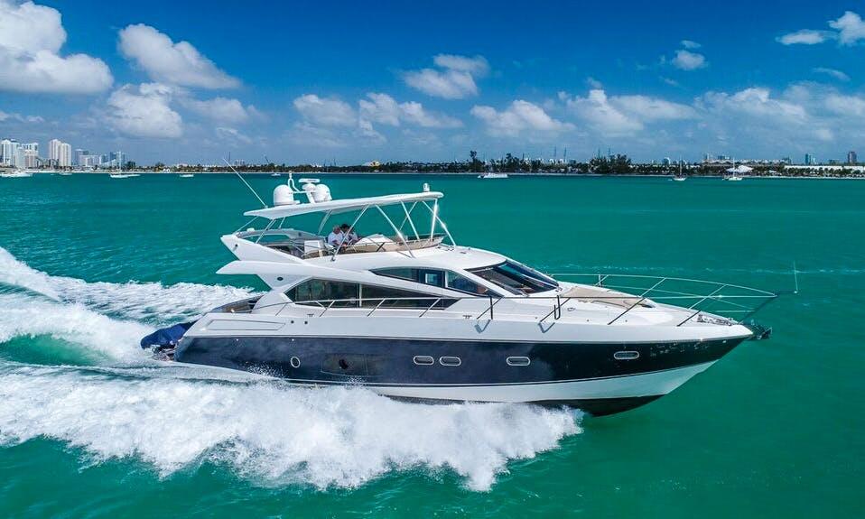 70' Sunseeker Flybridge Yacht. Comfort with Luxury