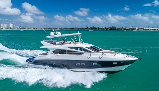 70' Sunseeker Flybridge Yacht. Comfort With Luxury