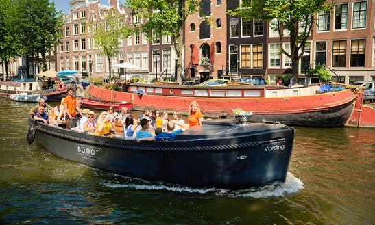 30' Luxurious Vording Electric Boat Rental For 35 People In Amsterdam, Netherlands