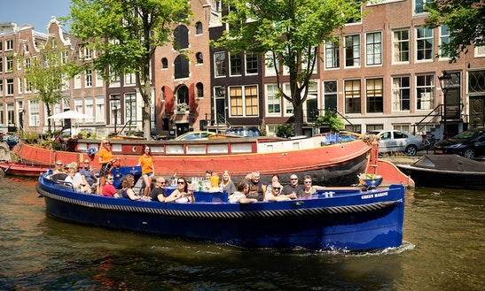 Green Marine Electric Boat Rental For 35 Persons In Amsterdam, Netherlands