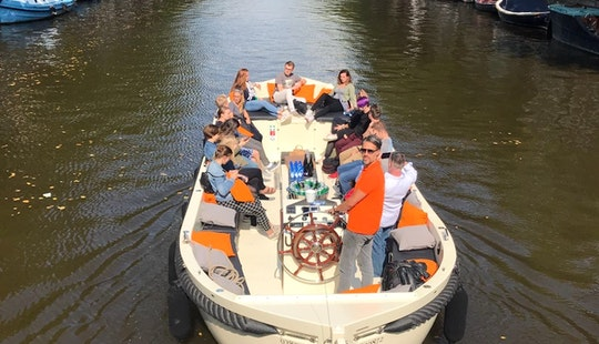 Rent A Lucky Stripper Luxurious Open Boat For 35 People In Amsterdam, Netherlands